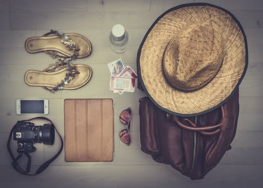 Photo of things to pack for travel for a vacation