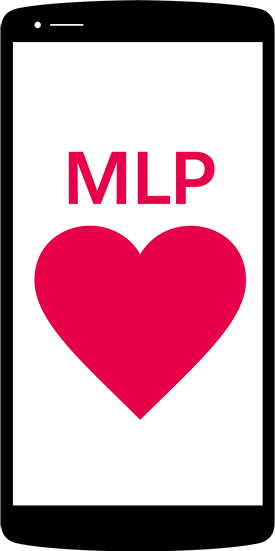 Image of phone with MLP and a heart