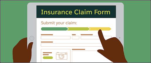 Digital insurance claim form.