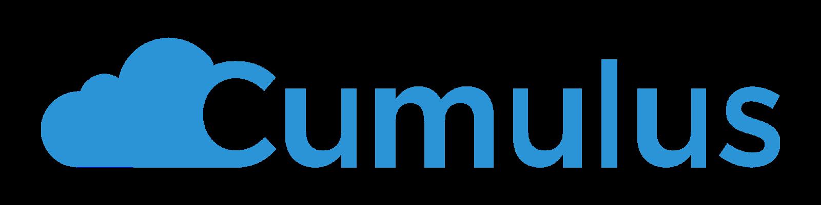 このストーリーの架空の銀行である Cumulus Bank のロゴ。