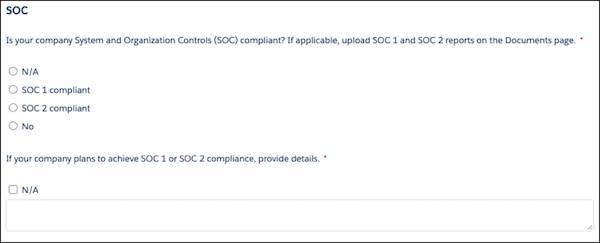 [コンプライアンス] セクションの SOC (System and Organization Controls) の詳細