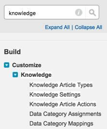 Knowledge na Configuração