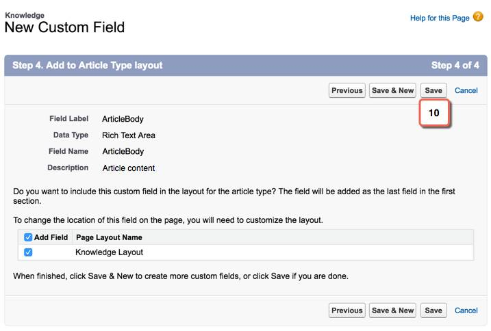 Add article type layout to field
