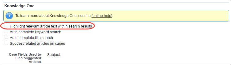 検索結果内で関連する記事のテキストを強調表示