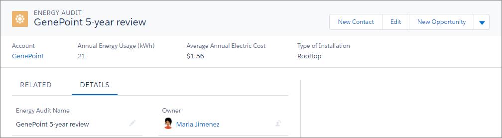 Registro Auditoría de energía