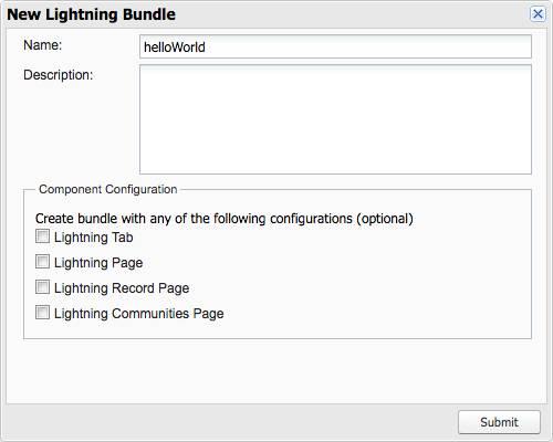 New Lightning Bundle panel