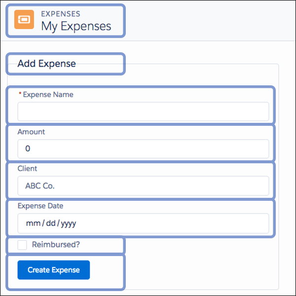Expenses app composition