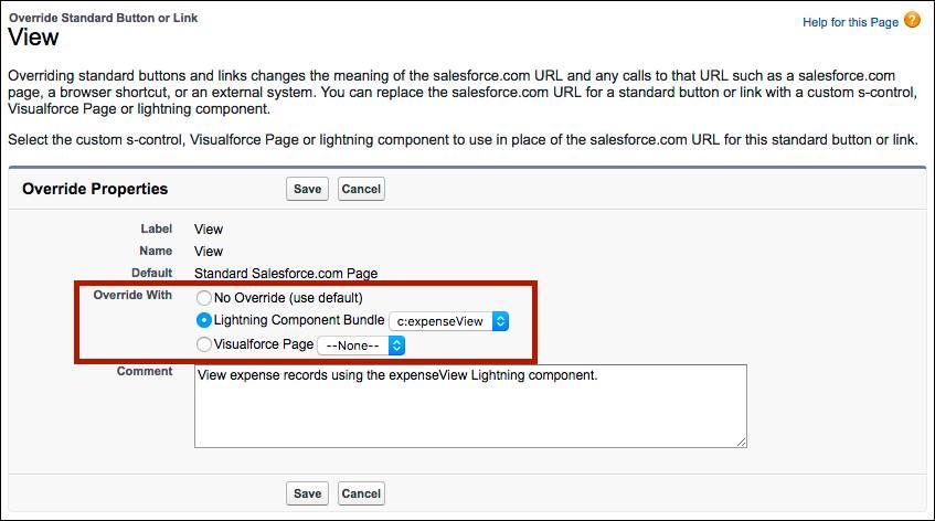 Sustituir acciones por componentes Lightning