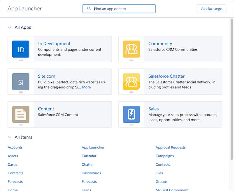 Custom app in the App Launcher