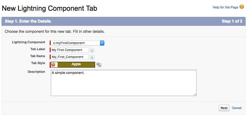 Create a custom Lightning component tab