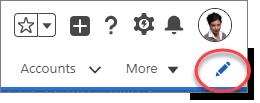 Ícone de edição da barra de navegação