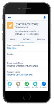 Salesforce app