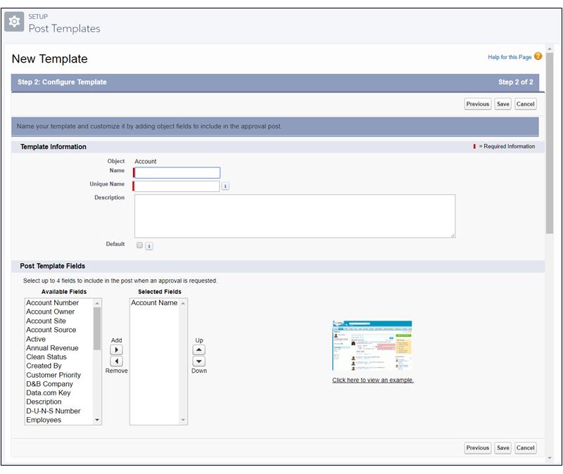 Configuração do modelo de publicação de aprovação