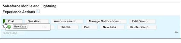Sección de la página Formatos de grupo en Configuración