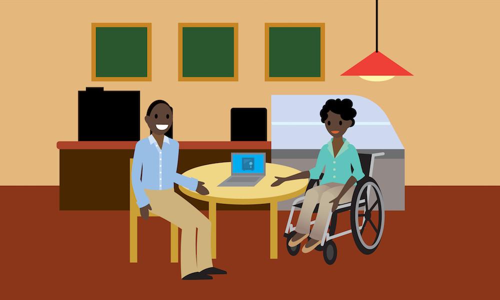 Charnice et Chinua discutent des sauvegardes de données