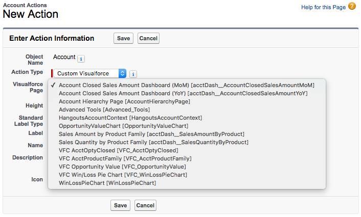Erstellen einer Visualforce-Aktion