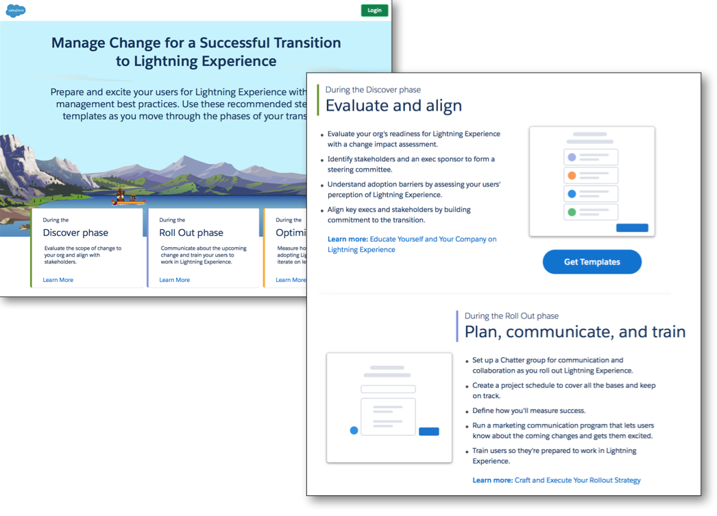 Lightning Experience Transition Change Management Hub