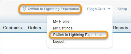 Switcher link in Salesforce Classic