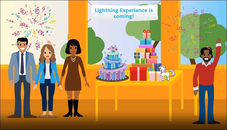Festa de lançamento do Lightning Experience