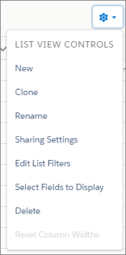 Object Home List View Controls