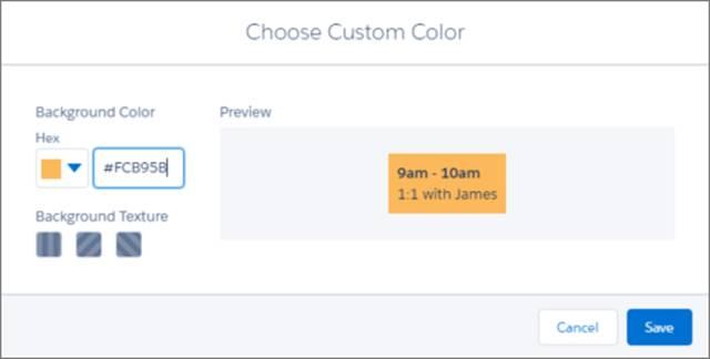 Texturas y colores personalizados