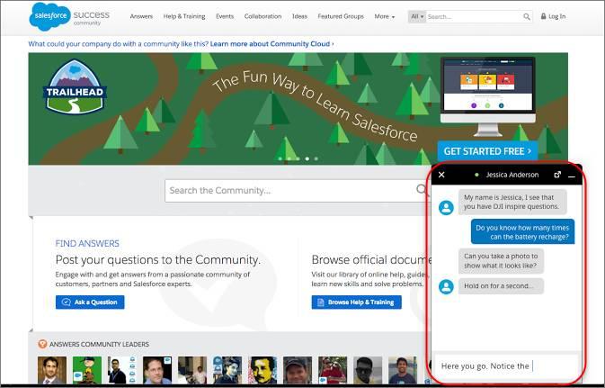 Conversation continue dans le widget Snap-ins Chat