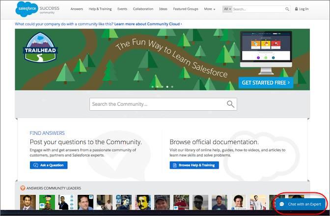 Widget Snap-ins Chat dans un navigateur