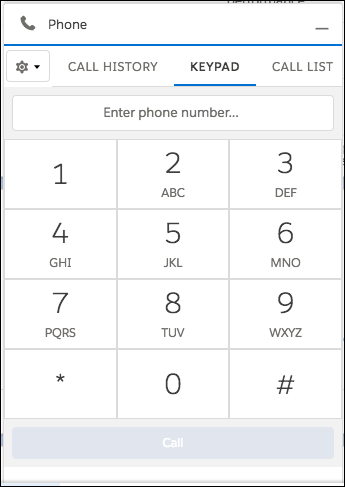 Call panel