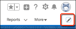 Click the edit navigation bar icon below your profile avatar.