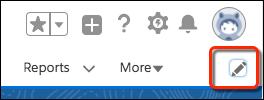 プロファイルアバターの下にあるナビゲーションバーの編集アイコンをクリックします。