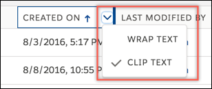Wrap or clip text