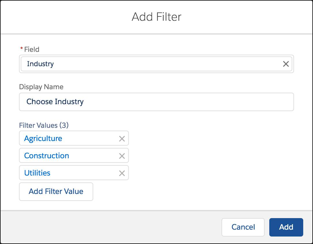 Adding a Filter in Lightning Experience