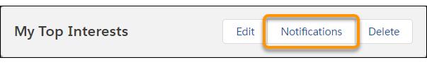 Botão Notificações na página de detalhes de um fluxo