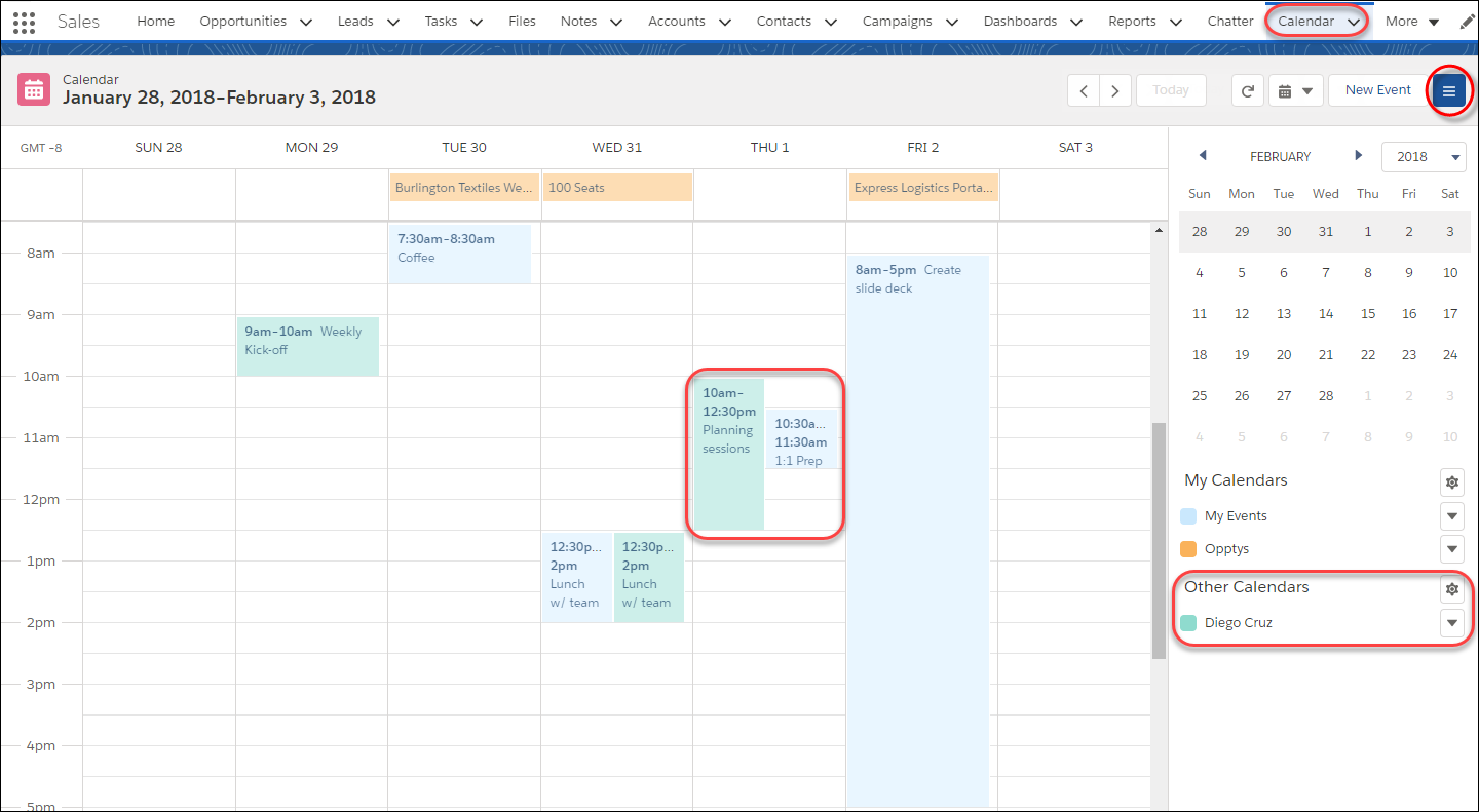 Your calendar in Lightning Experience