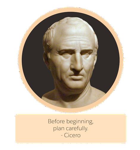 ギリシャの哲学者キケロの胸像。