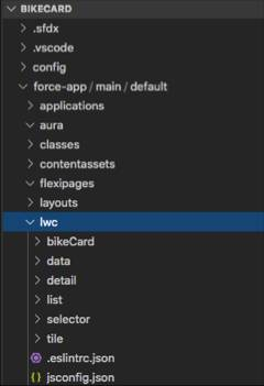 Bike selector app file structure.