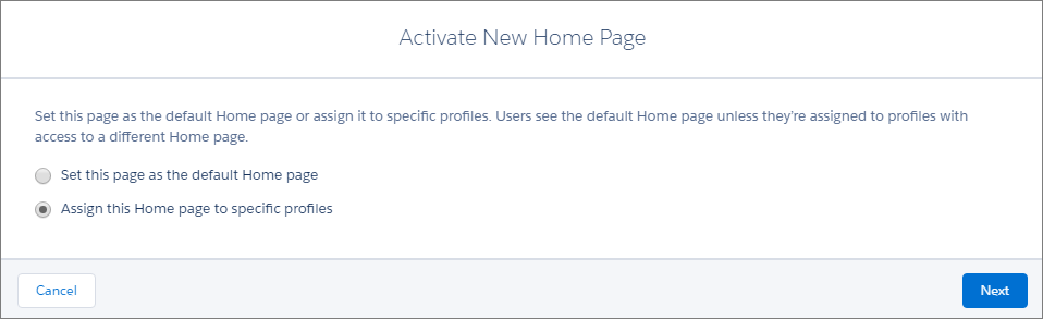 Activate Your Home Page