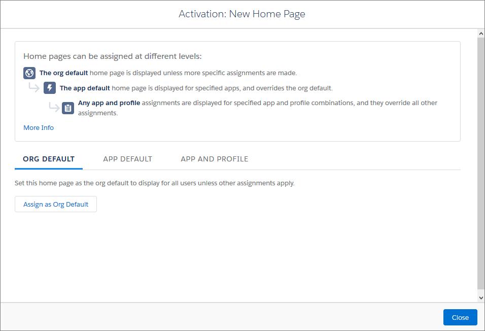 Activer votre page d'accueil