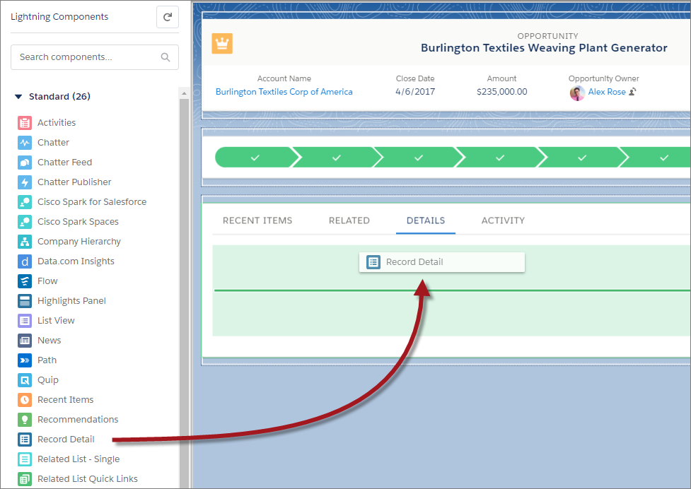 Build a Custom Record Page for Lightning Experience Unit | Salesforce