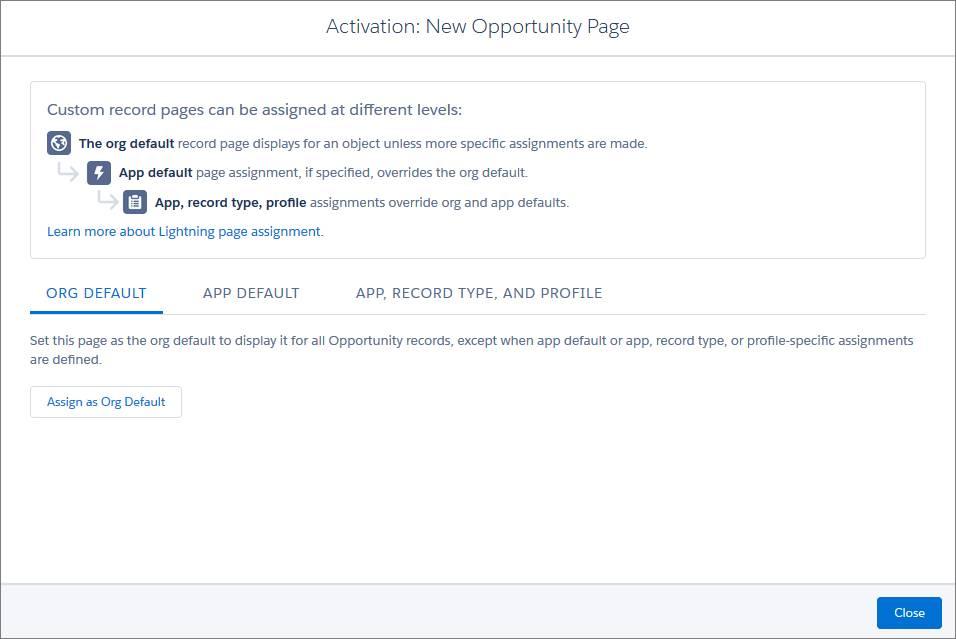 Activación de página de registro
