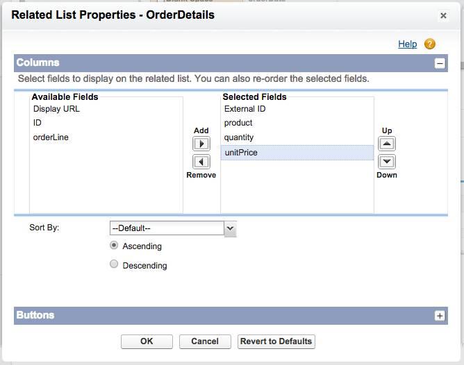 Boîte de dialogue des propriétés de la liste associée