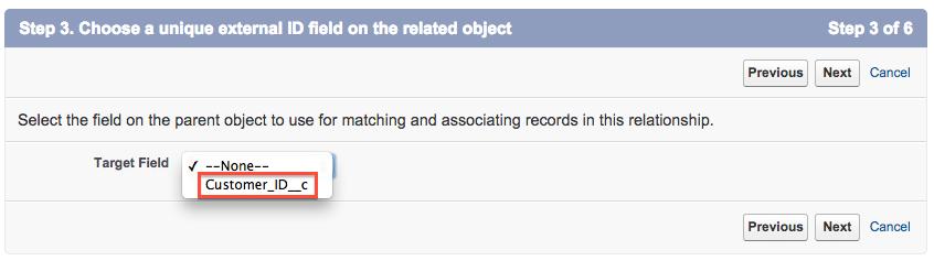 Sélection d'un ID client