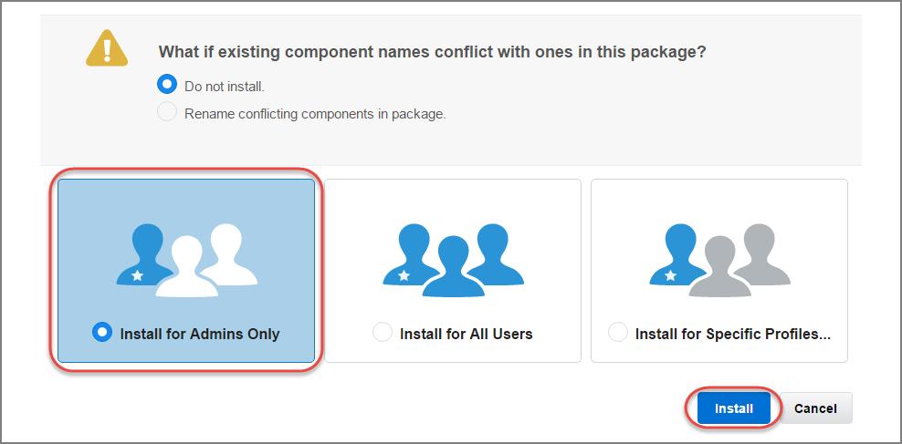 Installationsprogramm für das Paket 'Salesforce Connect Quickstart'