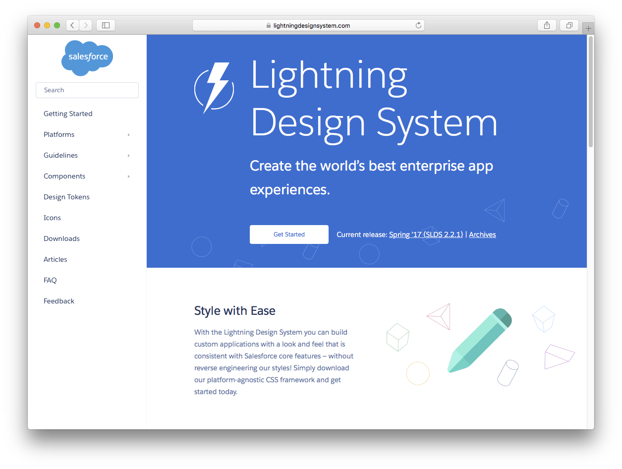 Lightning Design System website