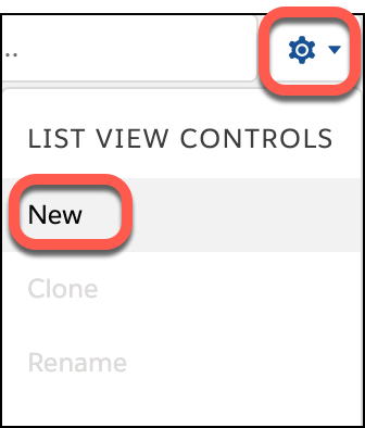 From List View Controls, select New.