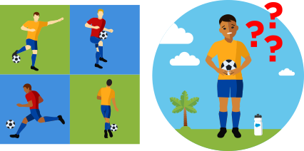 Football (soccer) has different moves which a new player may not know how to do.