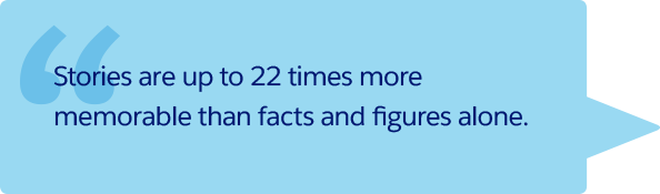 'Stories are up to 22 times more memorable than facts and figures alone'