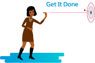 Gina helps her team stay focused on the goal, even under tough circumstances.