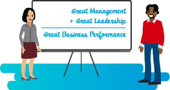Great management and leadership equals great business performance.