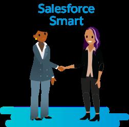 Sam est Salesforce Smart! Elle connaît le métier, les clients et le secteur comme sa poche.